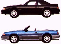 1993 Mustang GT hatchback and convertible